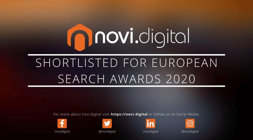 novi.digital Shortlisted For The European Search Awards 2020